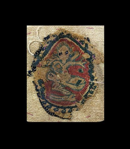 Interesting Pylochrome textile insertion with Nereid, ca. 5th.-7th. c.