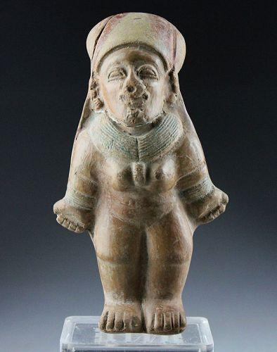 High Quality Pre-Columbian pottery female figure, La Tolita, 100-500 A