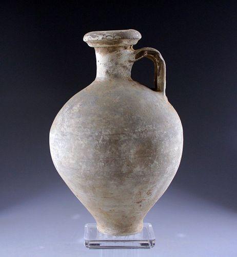 Fine larger Roman Grey-ware pottery jug, ca. 1st.-3rd. century AD