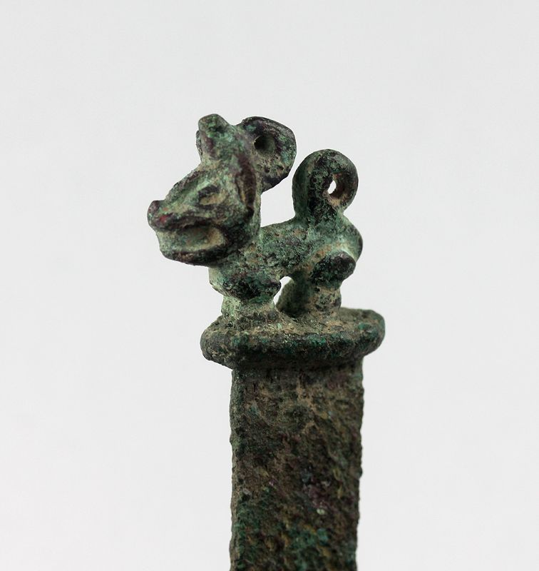 Excellent pre-columbian bronze Tumi knife, Inca, 13th-15th. cent. AD