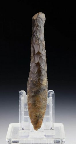 A choice Danish Neolithic flint dagger, type III, 2200-2000 BC!