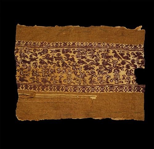 Large ancient textile w animals & Mermaids, Byzantine, 4th.-6th. c. AD
