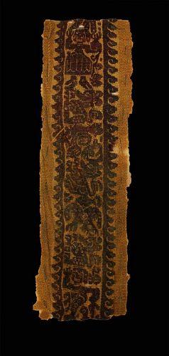 Wonderful Textile Clavus fragment, coptic workshops, Roman!
