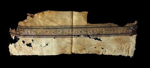 Important 90 cm. Late Roman textile Tunic fragment 4th.-6th. cent. AD