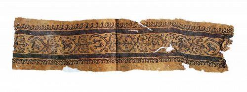 Large 54 cm Roman Clavus textile w. Zoomorphic animals 4th.-6th. cent.