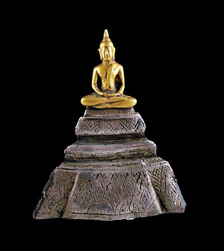 A rare and exceptional Thai gold and silver Buddha, 19th. cent.