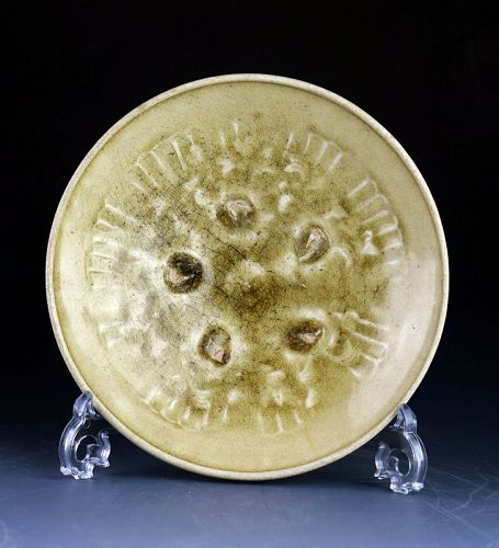 A Beautiful Vietnamese, Tran Dynasty pottery dish, 11th-13th cent AD