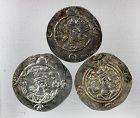 Choice lot of 3 Sasanian silver drachms, Khusro I & II - VF+