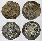 Pair of superb toned Sasanian silver drachms, Hormazd & Khusro I