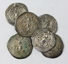 Lot of 6 nice Sassanian silver drachms, different rulers, VF
