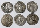 Lot of 6 nice Sasanian silver drachms, different rulers, VF