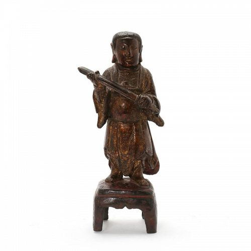 Rare Chinese Bronze Guardian figure, MING DYNASTY 1368-1644
