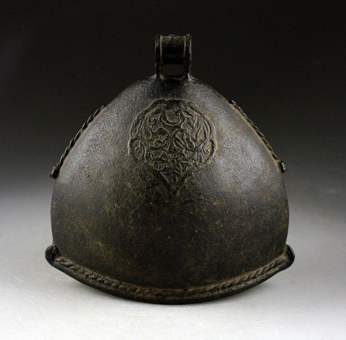 Impressive large bronze Elephant bell, Indonesian ca. 14th.-16th. c.