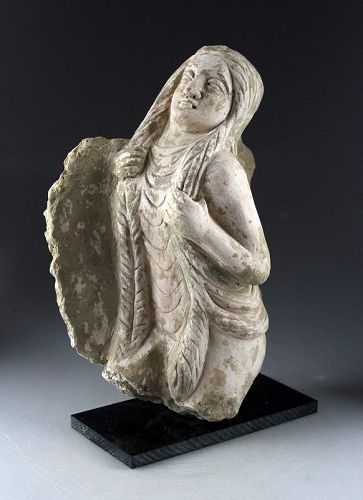 Large ancient Gandhara carved erotic sculpture, 1st.-4th. cent.