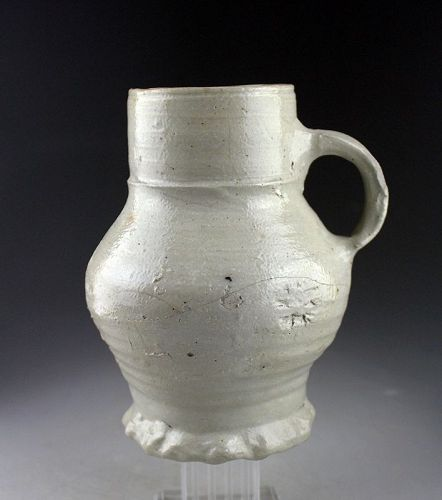 Large Medieval stoneware jug, Germany Siegburg, 15th. cent.