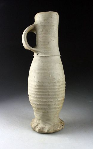 A very rare type of tall & slender Siegburg stoneware jug, 13th. cent.