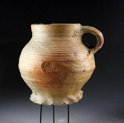 Late Medieval German stoneware brandy mug, Siegburg 1500 -1550 A.D.