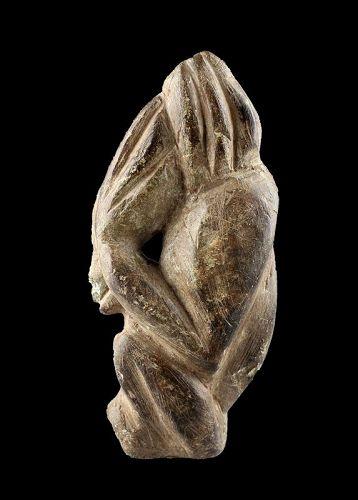 Important ancient 'alien' sculpture, Africa, Sierra Leone, pre 15th. c
