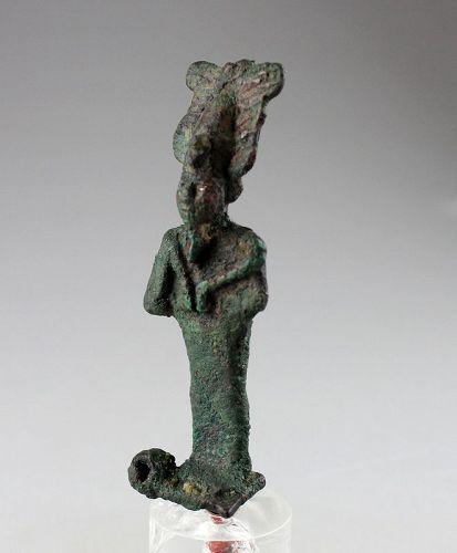A good Egyptian Osiris bronze figurine, Late Period, 7th.-4th. cent.BC