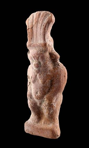 Very large Egyptian terracotta figure of Bes, Ptolemaic period!