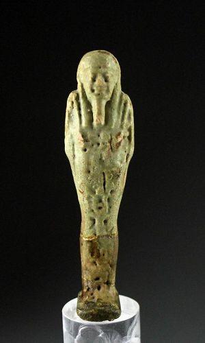 Nice Egyptian Faiance Ushabti, Late Period 27th.-30th. dynasty
