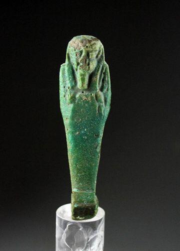 Beautiful Egyptian Faiance Ushabti, Late Period 27th.-30th. dynasty