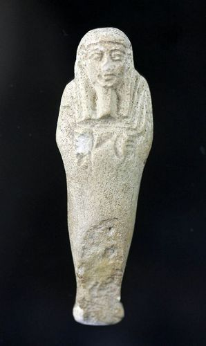 Attractive Egyptian Faiance Ushabti, Late Period 27th.-30th. dynasty