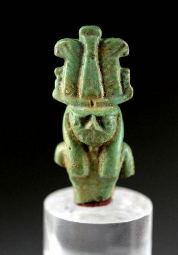 Large Egyptian Faiance Amulet of Horus (?), late period!