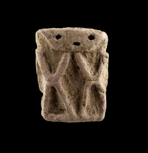 Interesting Pre-Columbian pottery relief of man, Neolithic period!