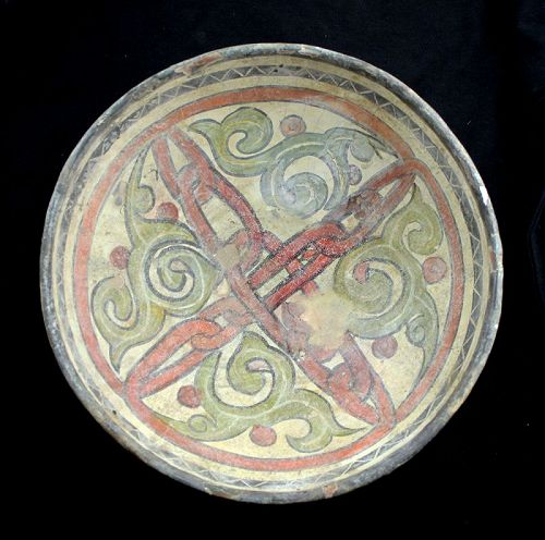 Interesting scarce Islamic pottery bowl, Nishapur, c. 10th. cent. AD