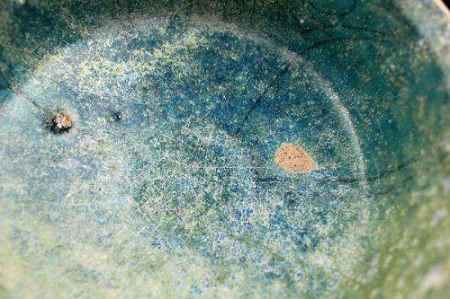 Choice Torquise glaze pottery bowl, Islamic Kashan, 12th. cent. AD