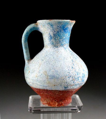 Beautiful Islamic Kashan or Nishapur torquise pottery Jug!