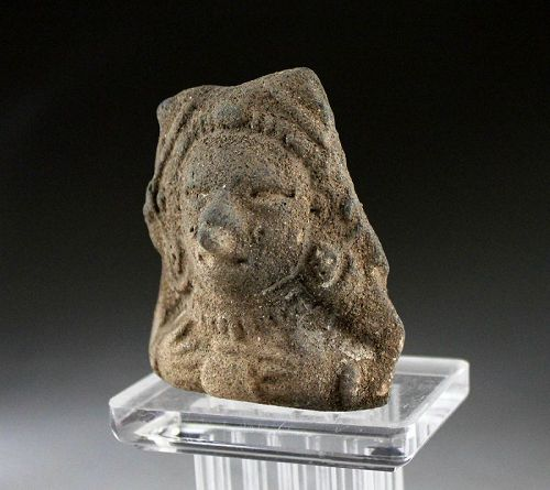 Pre-Columbian Ecuador Anthropomorphic pottery flute, 1st. millenium BC