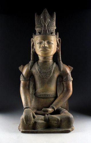 Massive & rare Ceramic sculpture of Buddha, South East Asia