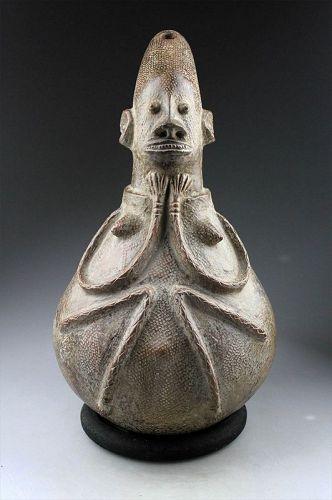 Large Figurative African Anthropomorphic Vessel / Jar