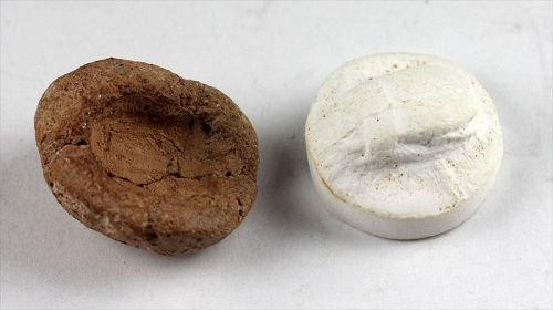 Interesting Egyptian terracotta mould for a scarab, 1st. mill. BC