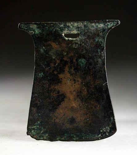 Beautiful large Pre-Columbian bronze axe, Inca, 13th.-15th. cent. AD
