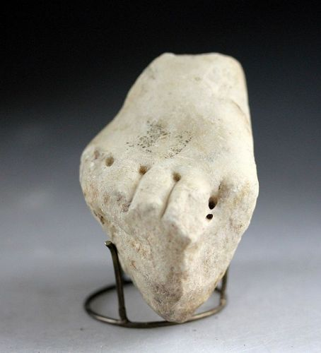 Fine Roman Marble fragment of a foot, 1st.-3rd. cent. AD