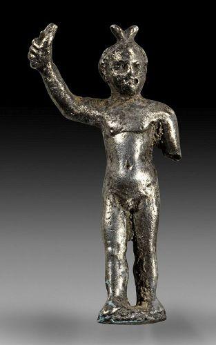 Rare roman silver figurine of an Erote, 1st.-3r. cent. AD!