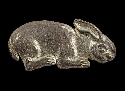 Fine large Roman silver figurine of a Hare, 1st.-3rd. century AD