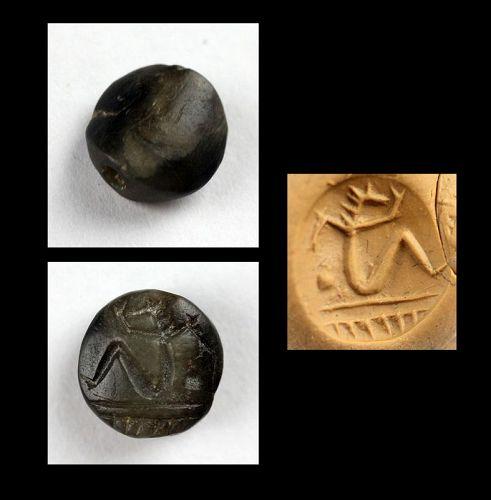 Rare ancient Levantine stone stamp seal, 2nd.-1st. millenium BC