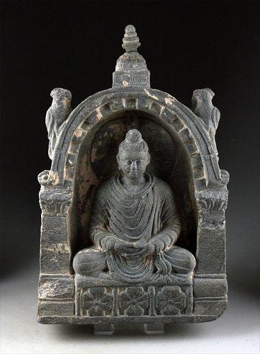 High quality Scist stone stele of Buddha, Gandhara, ca. 2nd.-3rd. c.