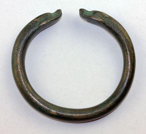 Nice achaemenid Zoomorphic bronze bracelet, ca. 7th.-5th. cent. BC