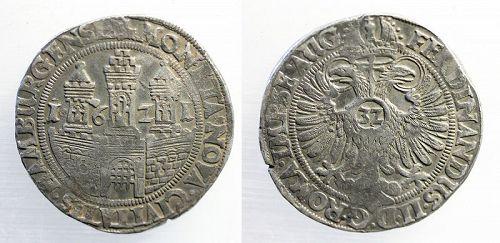 Choice German States silver Thaler, Hamburg towers, 1621!