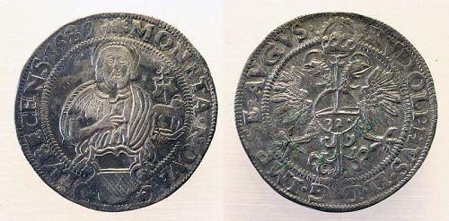 Fine Germany, Lübeck: Freie und Reichsstädte, AR thaler 1587 - EF!