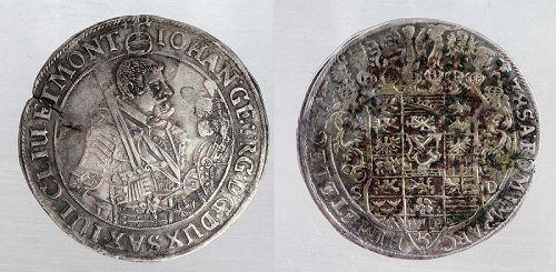 Nice German silver thaler or taler, Saxony Johann Georg 1638