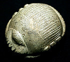 Important massive Egyptian heart scarab