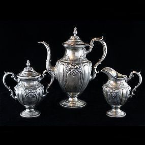 Fisher Silversmiths Inc. Three Piece Coffee Service