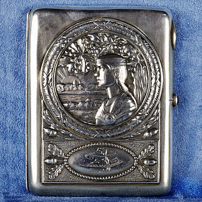 Stunning Hallmarked Russian Silver Cigarette Case - Early 20 Century