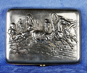 Stunning Russian Silver Cigarette Case - Early 20 Century